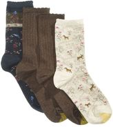 Gold Toe Women's 4-Pk. Deer and Bird Socks