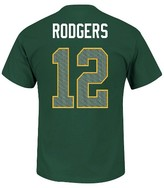 Green Bay Packers A Rodgers Men's Short Sleeve Athletic Ring Spun Player Jersey T-Shirt