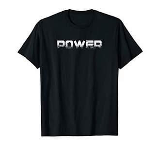 Mens POWER - Gym Fitness Workout Motivational Design Tee F188 T-Shirt