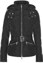 MICHAEL Michael Kors Lance Quilted Shell Down Hooded Jacket - Black