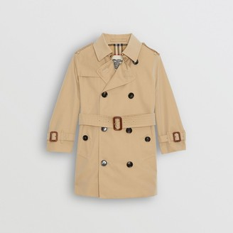 Burberry Childrens Cotton Gabardine Trench Coat