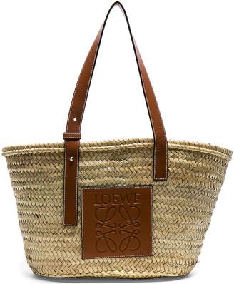 Loewe Basket Bag in Natural & Tan | FWRD
