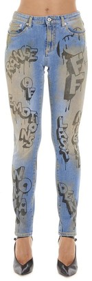 Off-White Graffiti Skinny Jeans