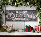 Pottery Barn Merry Christmas Art