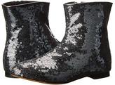 Dolce & Gabbana Glitter Side Zip Bootie (Little Kid)