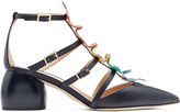 Anya Hindmarch Apex leather block-heel shoes