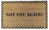 XiaoS Door Mats Custom Doormat Decorative Funny Not You Again for indoor and outdoor use Home/Office/Bedroom Non Slip Backing Durable heatresistant nonwoven fabric 23.6 (L) x 15.7 (W) inches