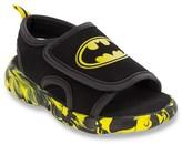 Licensed Batman Toddler Boys' Flip Flip Open Covered Footbed Sandals - Black