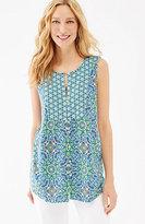 J. Jill Mixed-Print Sleeveless Shirt
