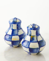 Mackenzie Childs Royal Check Salt and Pepper Shakers