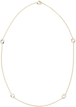 Verdura 18kt Yellow Gold Diamond Curb-Link Station Necklace