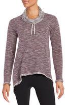 Calvin Klein Asymmetrical Cowlneck Long Sleeved Performance Pullover