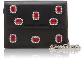 Prada Crystal-Embellished Leather Shoulder Bag