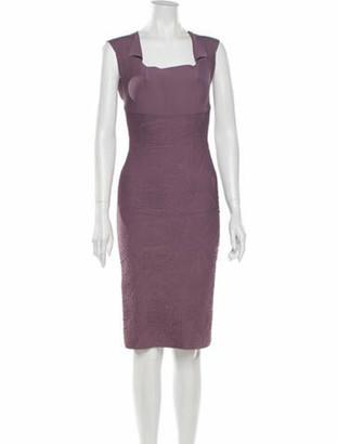 Roland Mouret Square Neckline Knee-Length Dress Purple