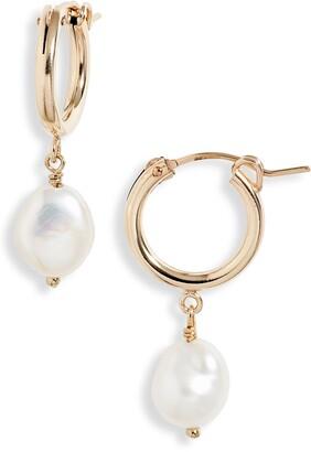 Set & Stones Adelle Keshi Pearl Hoop Earrings