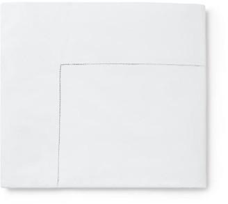 Sferra Celeste Flat Sheet - White Full/queen