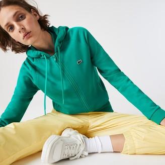 Lacoste Women's SPORT Hooded Fleece Zip Tennis Sweatshirt