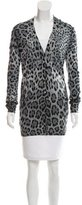 Dolce & Gabbana Animal Print Wool Cardigan