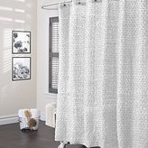 Lush Decor Rosely Shower Curtain White