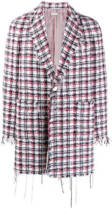 Thom Browne Fray Edge Unconstructed Overcoat