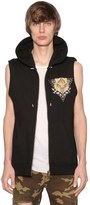 Balmain Hooded Print Panther Cotton Jersey Vest
