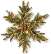 NATIONAL TREE CO National Tree Company 32 Glittery Bristle Pine Pre-Lit Snowflake