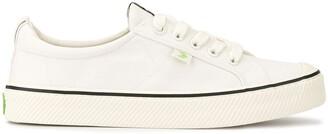 Cariuma OCA Low Stripe White Canvas Sneaker