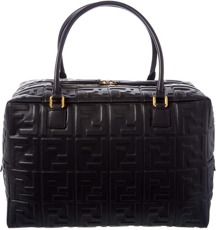 f7f4b8c5 Ff Embossed Small Leather Boston Bag