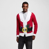 Men's Ugly Holiday Santa Suit Cardigan Red