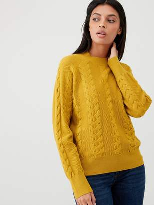 Very Cable Knit Jumper - Ochre