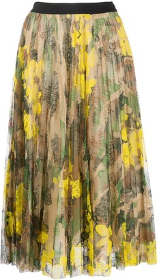 Ermanno Ermanno High-Waisted Floral Skirt