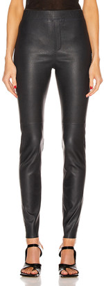 REMAIN Snipe Leather Legging in Blue Graphite | FWRD