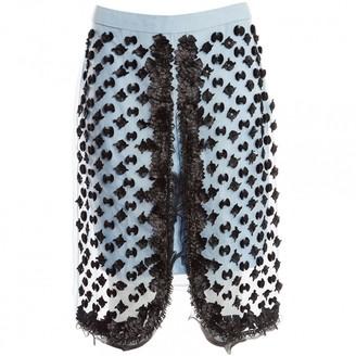 Sonia Rykiel Blue Silk Skirt for Women
