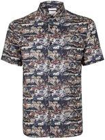 Topman Atlas Print Liberty Fabric Short Sleeve Dress Shirt