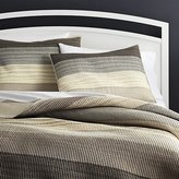 Crate & Barrel Sedona Grey Quilts and Pillow Shams