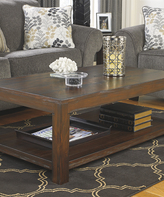 Signature Design by Ashley Rustic Brown Grinlyn Rectangular Cocktail Table
