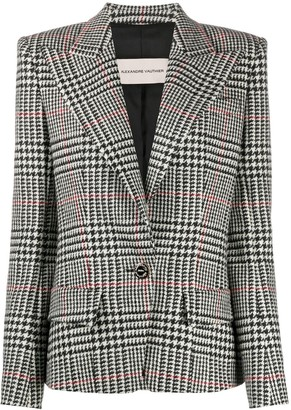 Alexandre Vauthier Houndstooth Single-Breasted Blazer