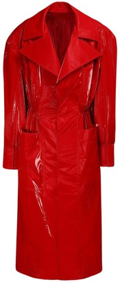 Thierry Mugler Shiny Tech Long Trench Coat