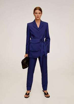 MANGO Belt suit blazer