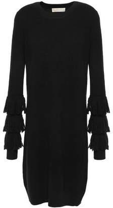 MICHAEL Michael Kors Fringe-trimmed Knitted Mini Dress