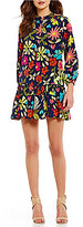 Trina Turk Corozone Floral Drop Waist Dress