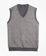 Brooks Brothers Merino Wool Plaid Vest