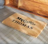 Pottery Barn Mr. and Mrs. Doormat