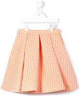 Valmax Kids - cube print skater skirt - kids - Cotton/Acrylic/Polyamide/Polyester - 4 yrs