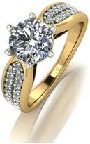 Moissanite PREMIER 9CT GOLD 1.75ct Eq total SOLITAIRE RING
