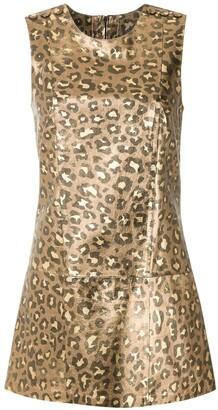 Andrea Bogosian Jaguar metallic mini dress