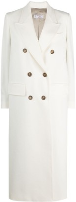 Alberto Biani Double-Breasted Cotton Midi Coat