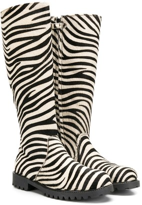 Gallucci Kids Zebra Print Boots
