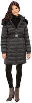 DKNY Belted Coat w/ Detachable Faux Fur Collar 75909-Y5