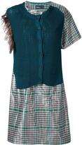 Kolor sweater-panelled dress